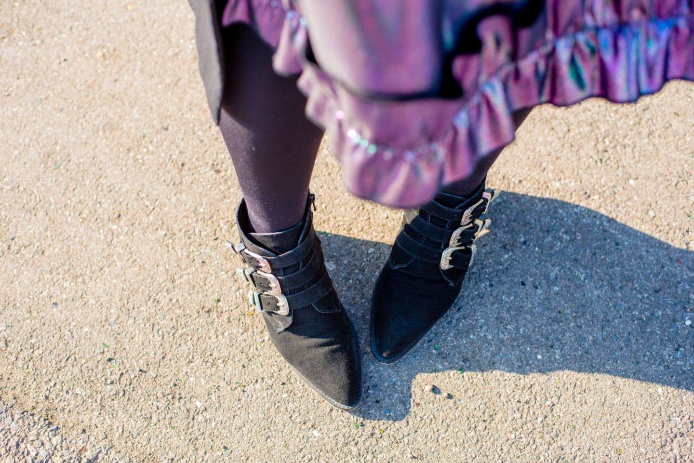 asos western boots black suede