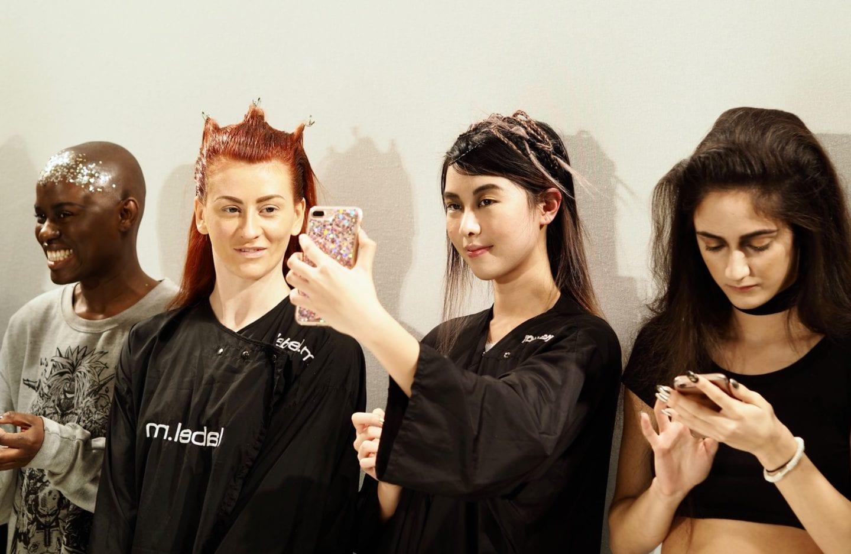 LFW-Hellavagirl-X-Benefit-Cosmetics-models-taking-selfies