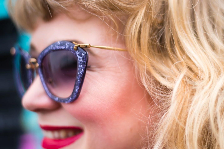 miu miu sunglasses purple glitter sparkles
