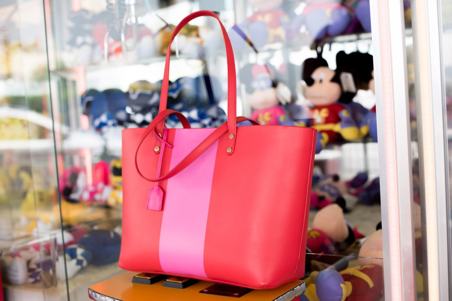 boden tote bag pink red luxe shoppyer leather
