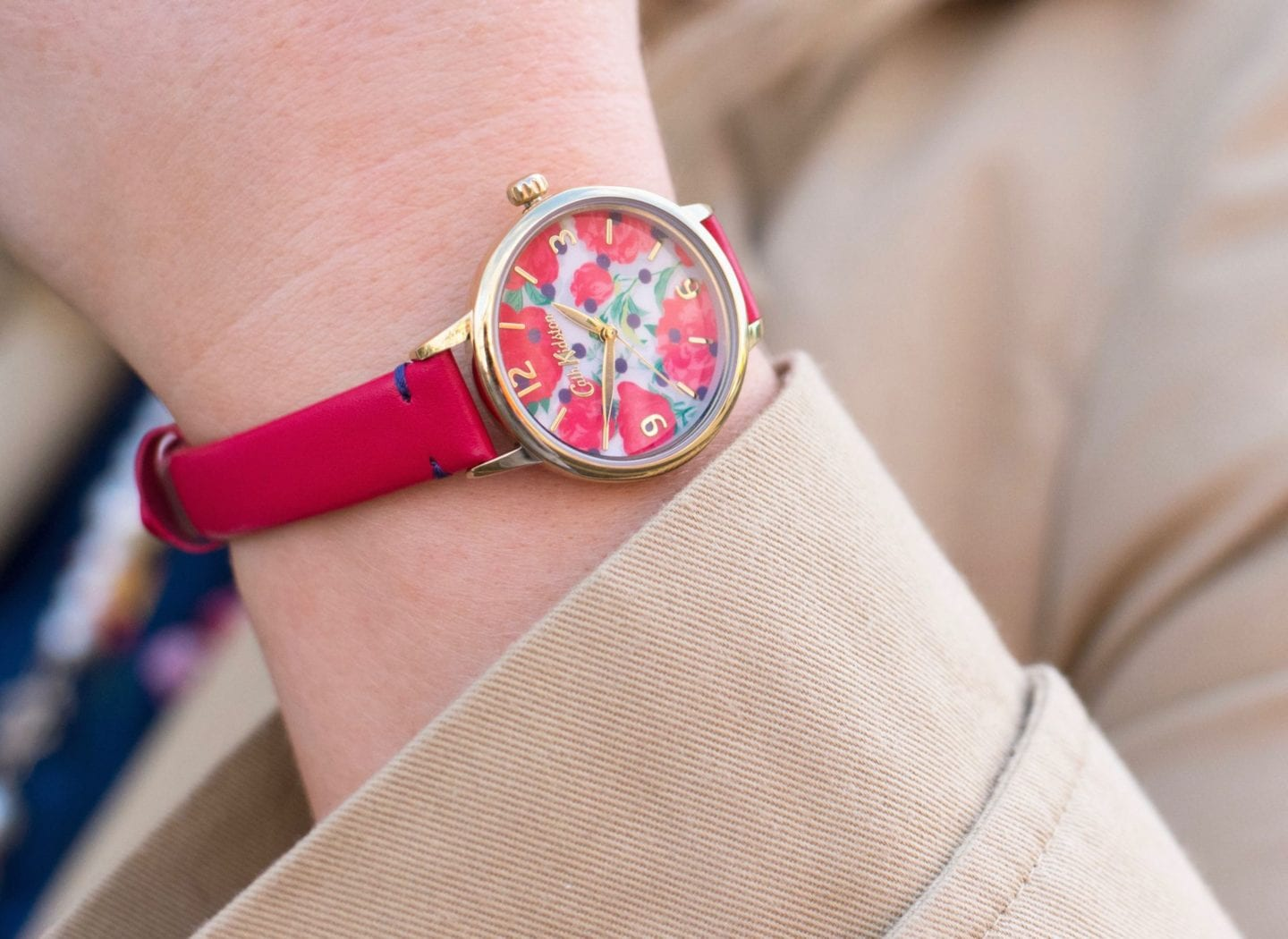 cath kidston watch red flowers floral