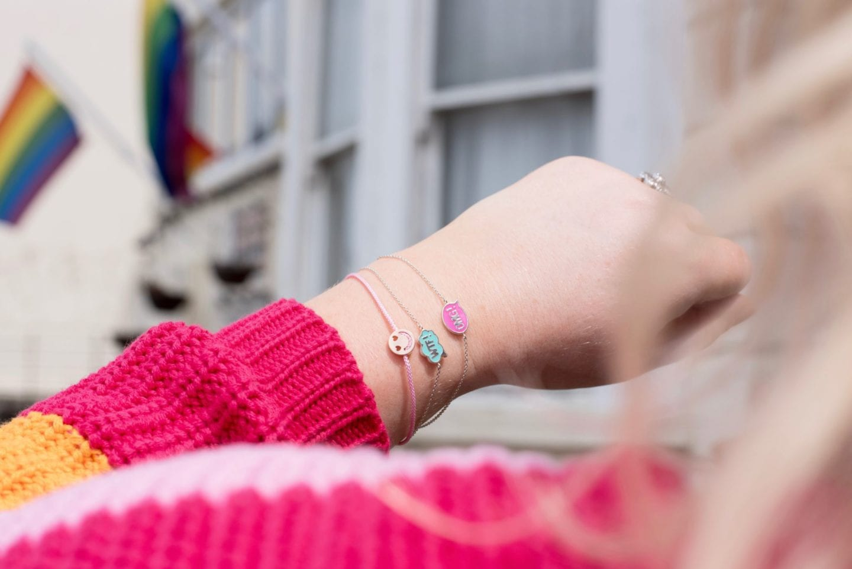 laura gravestock omg and wtf bracelet