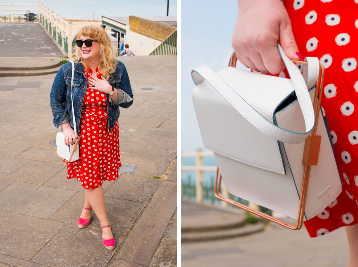 boden red jessica dress outfit post