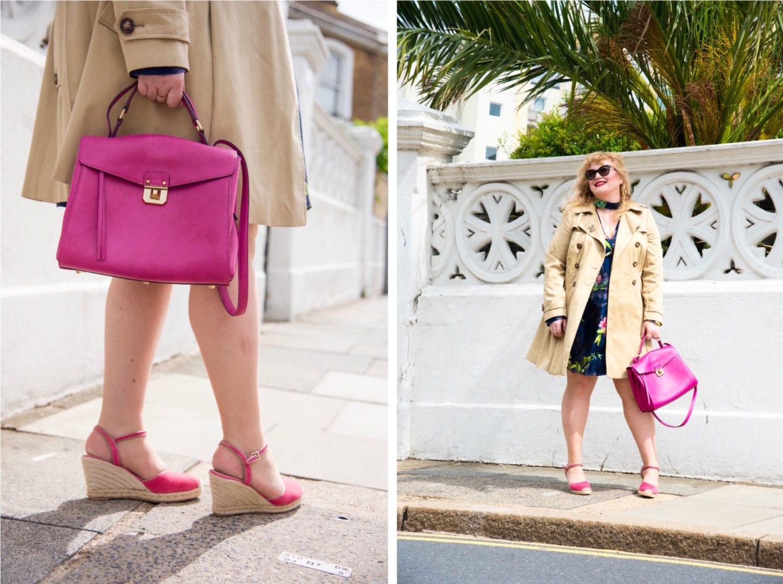 fashion for lunch blog pink mcm handbag