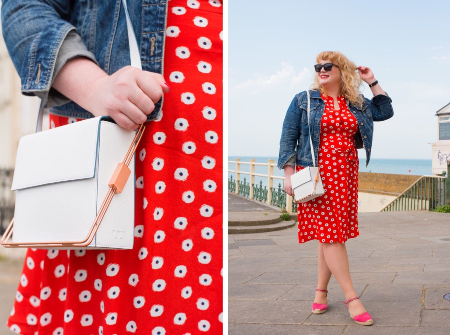 jessica boden dress red spotty curve blogger