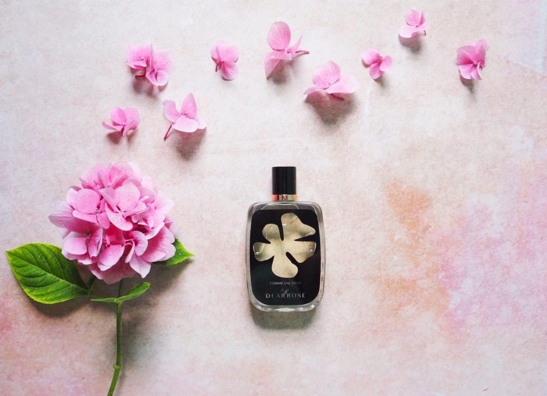 perfume: dear rose 'comme une fleur' - fashion for lunch.