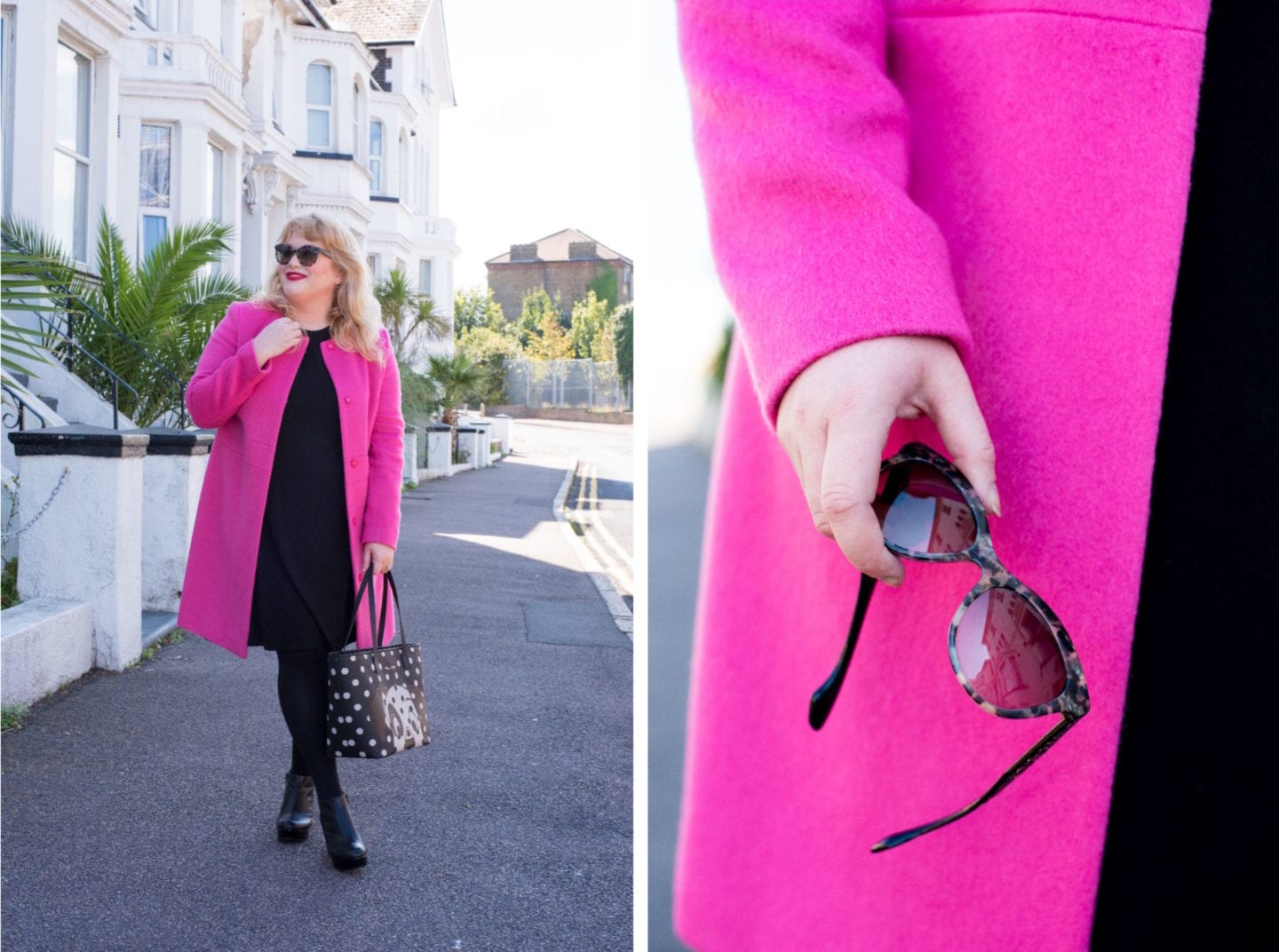boden pink coat collarless