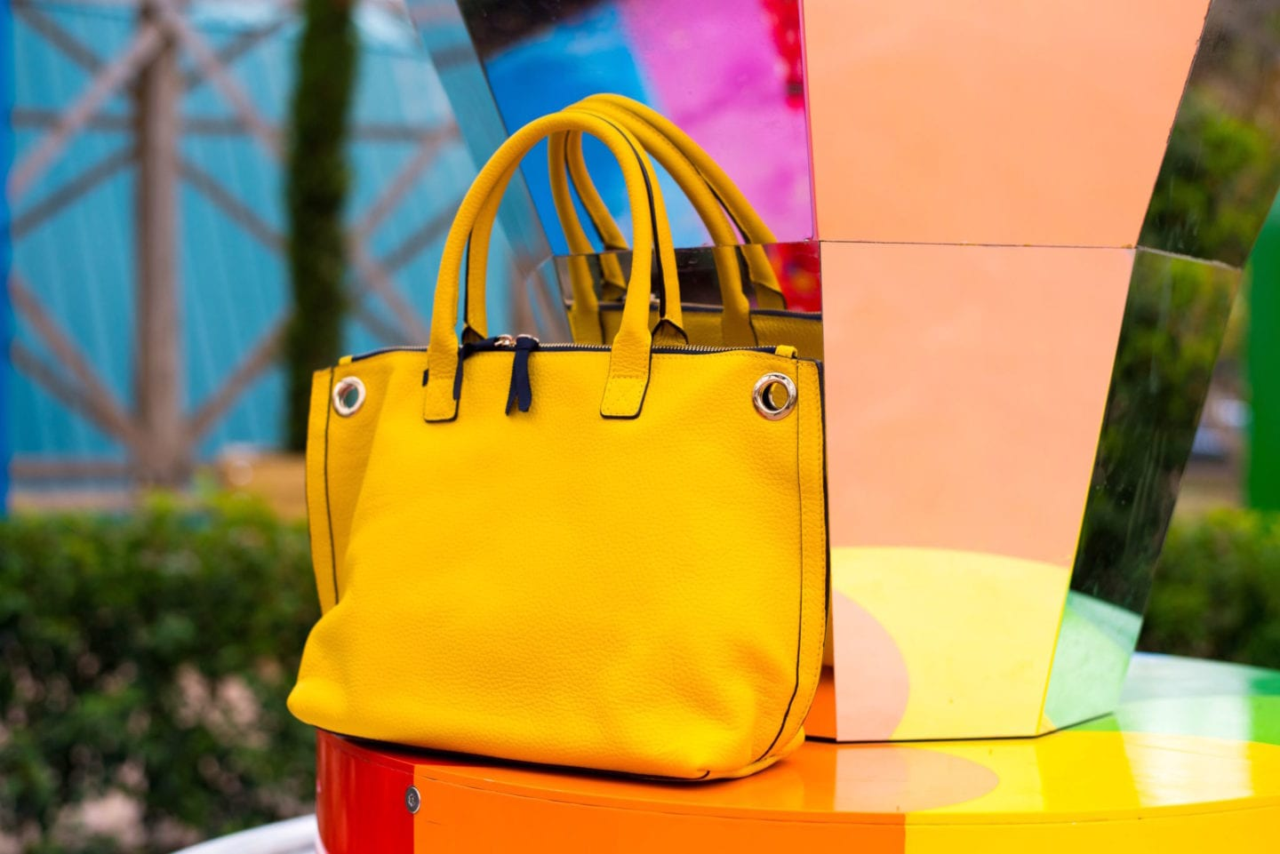 dreamland margate photoshoot boden yellow handbag tote bag