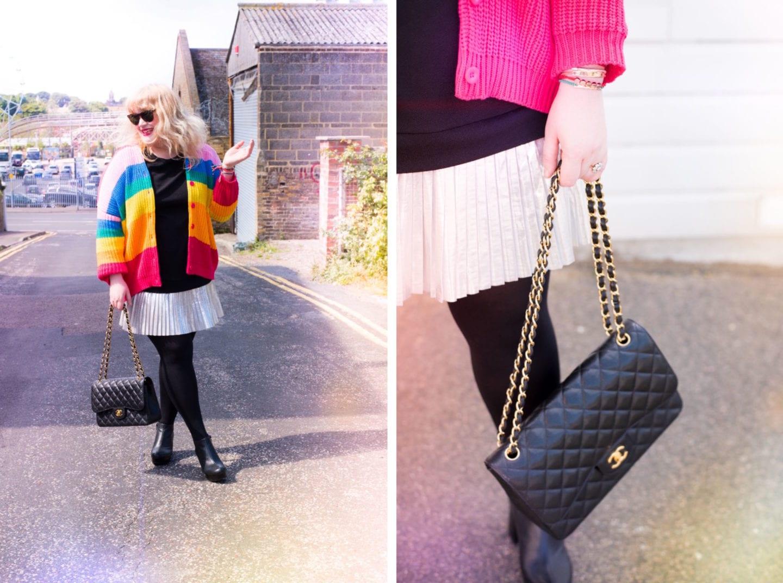 fashion for lunch blog rainbow lazy oaf cardigan
