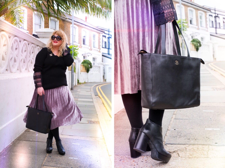 radley london black tote bag handbag