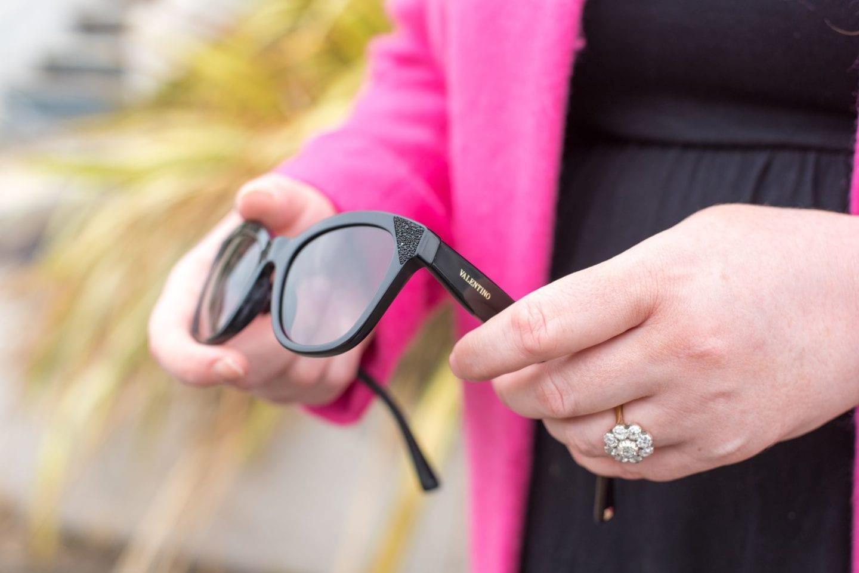 valentino sunglasses black crystals 2017 blogger