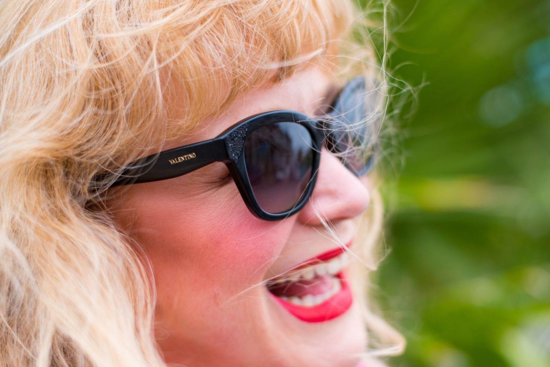valentino sunglasses black crystals fashion blogger
