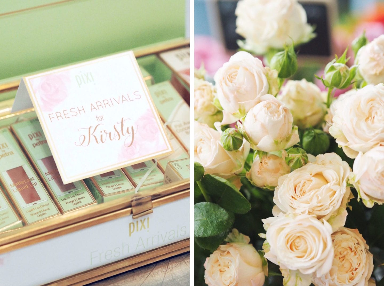 pixi beauty blogger flower arranging event