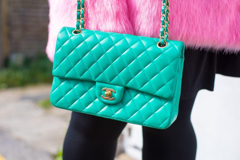 chanel handbag Colour Transfer pale leather lambskin colour