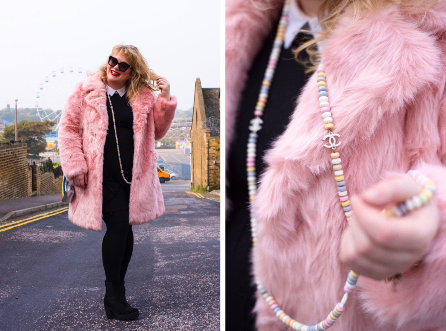 fashion for lunch blog pink asos coat
