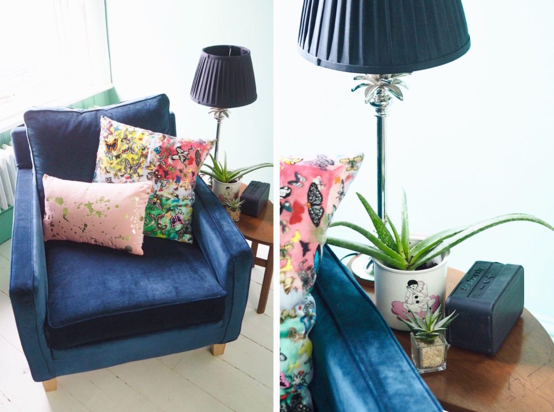 multiyork chair blue velvet