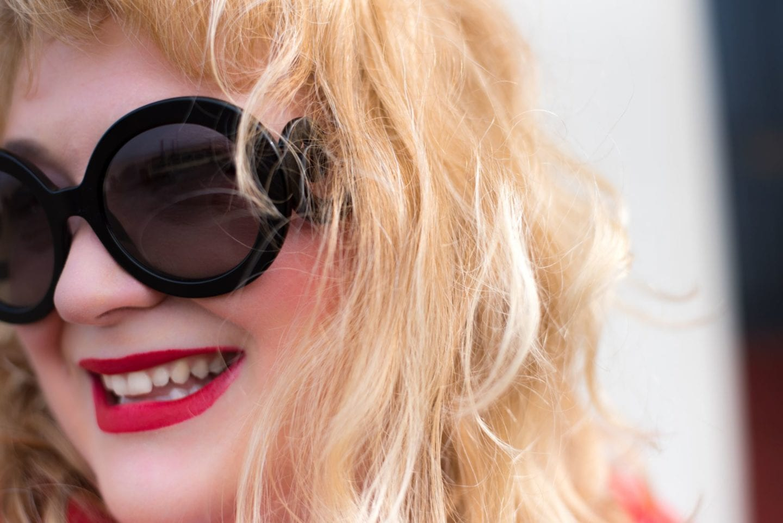 prada sunglasses round baroque style