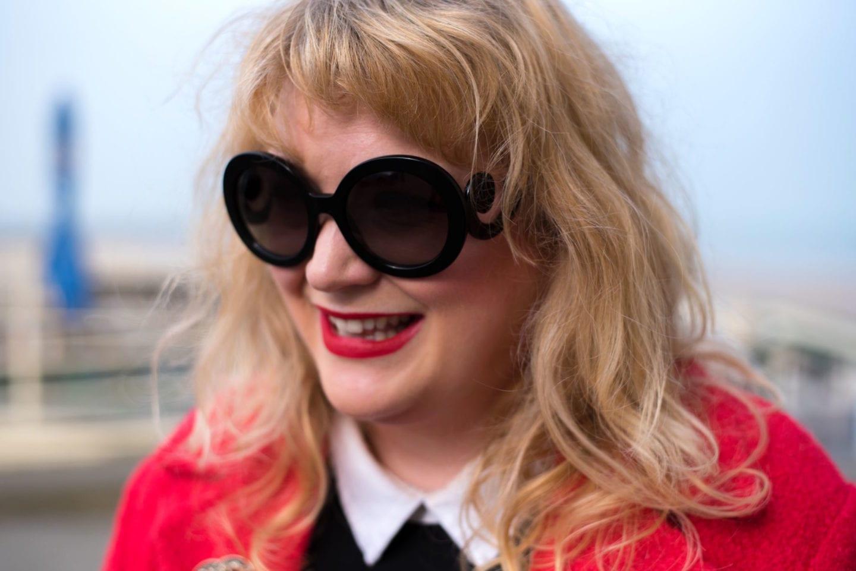 prada sunglasses round baroque style black
