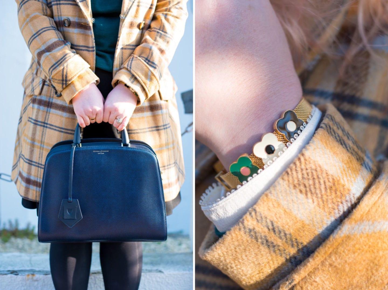 aspinal of london handbag mayfair navy blue bag outfit post style