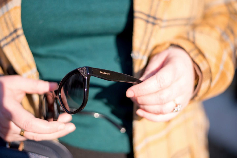 black valentino sunglasses with crystals