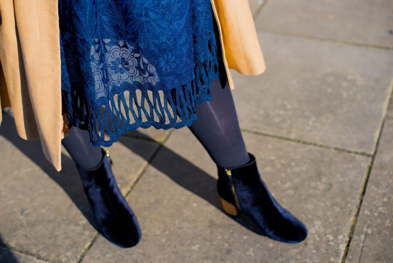 chi chi dress nacy blue lace