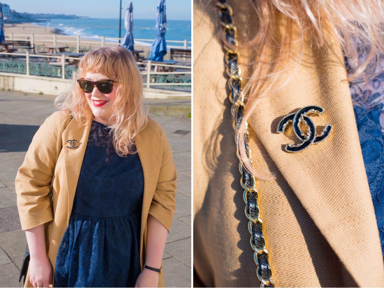 fashion for lunch blog asos curve black chanel brooch baroque