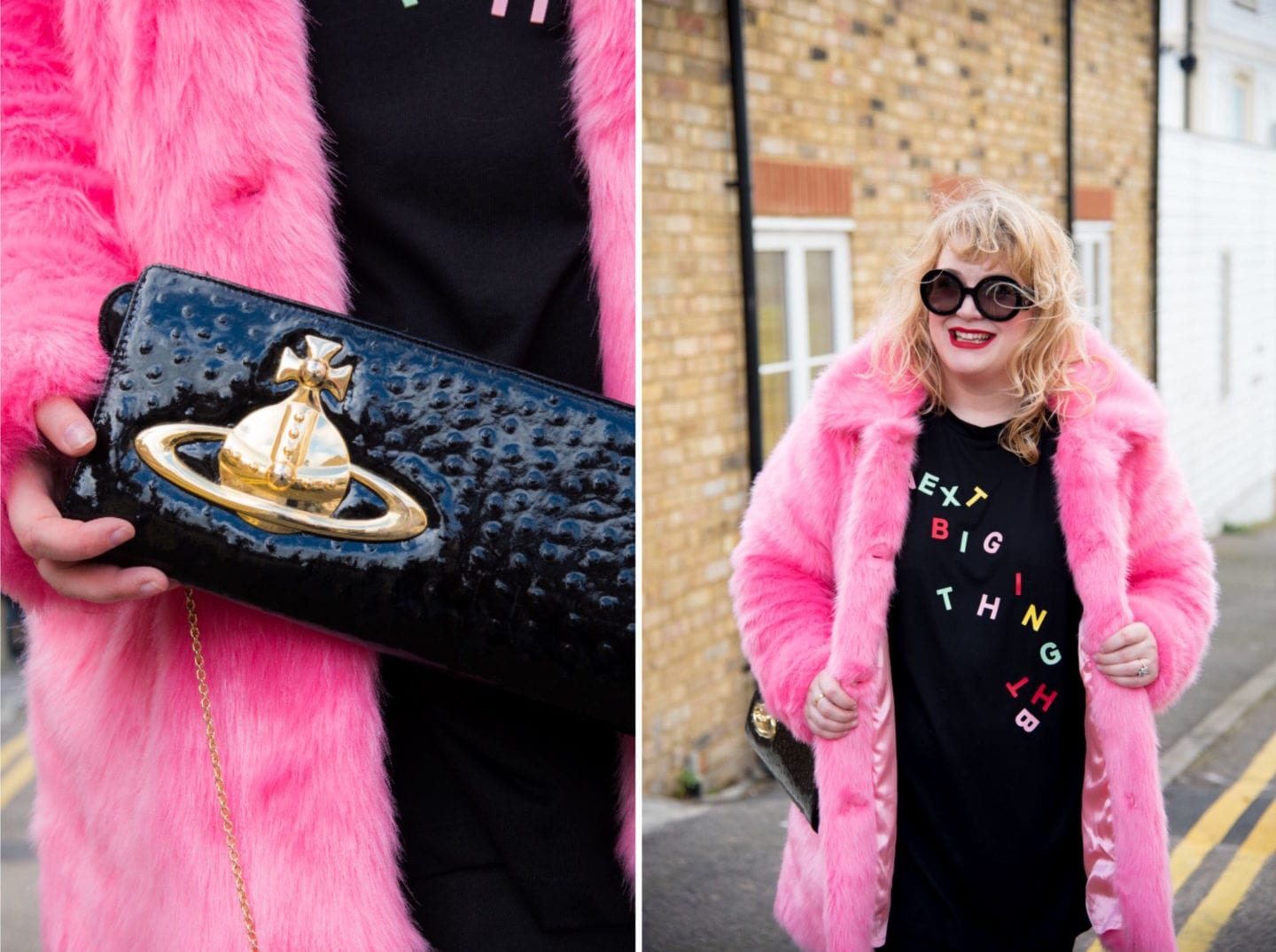 fashion for lunch blog pink fur