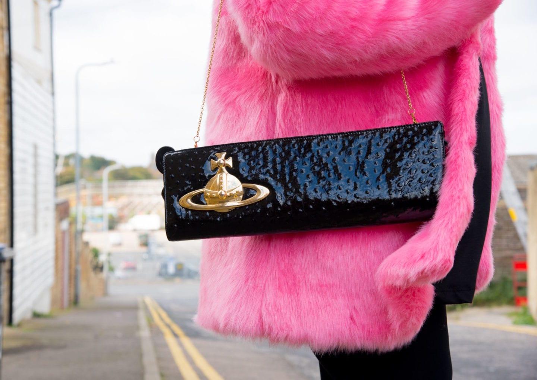 vivienne westwood handbag black and gold