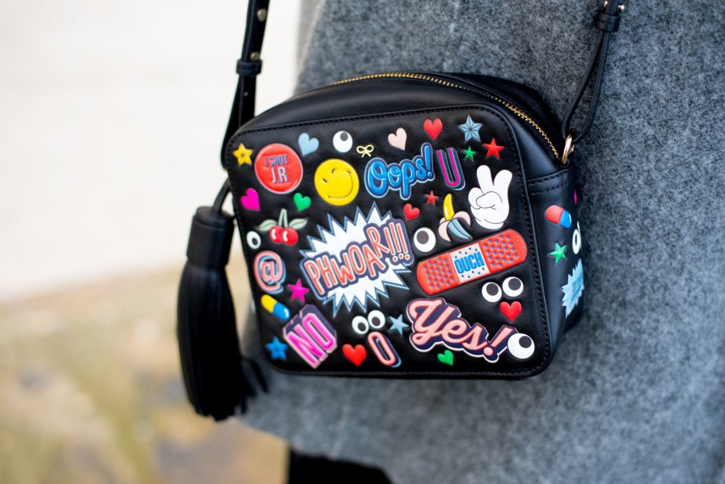 anya hindmarch handbag sticker bag