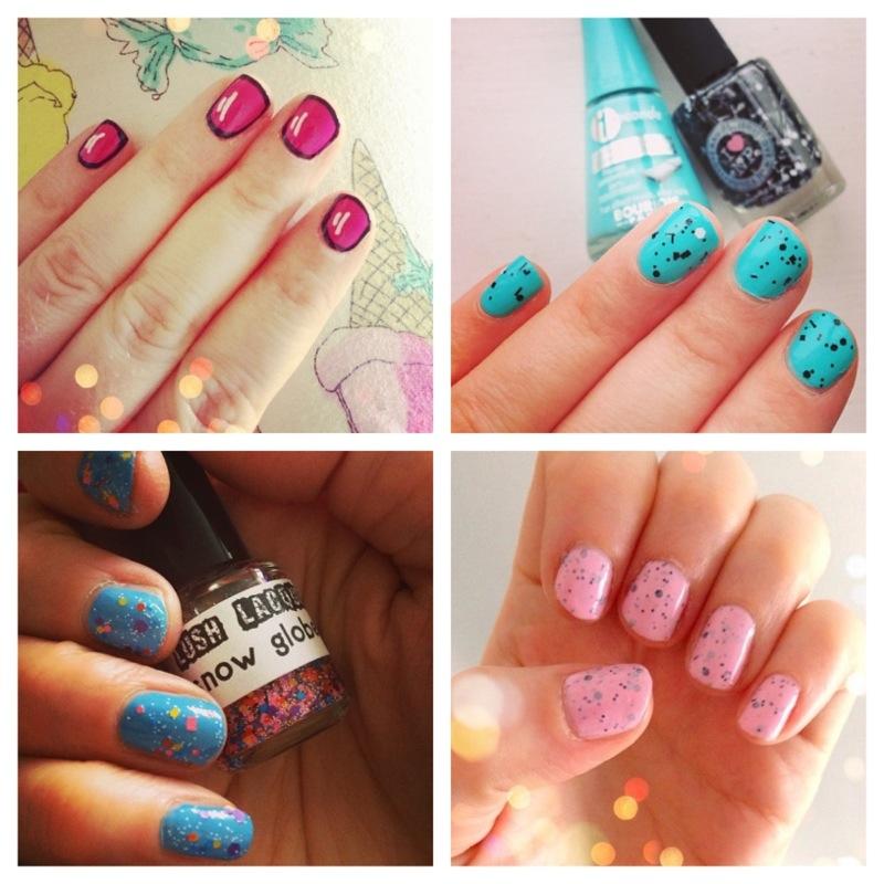 glitter nail polish - fashionforlunch  cartoon manicure