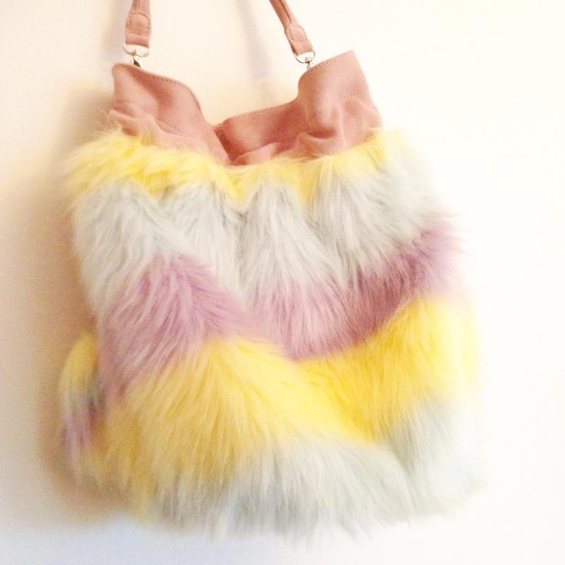 meadham kirchhoff x topshop furry bag fur fashion blog blogger personal style ootd wordpress uk british
