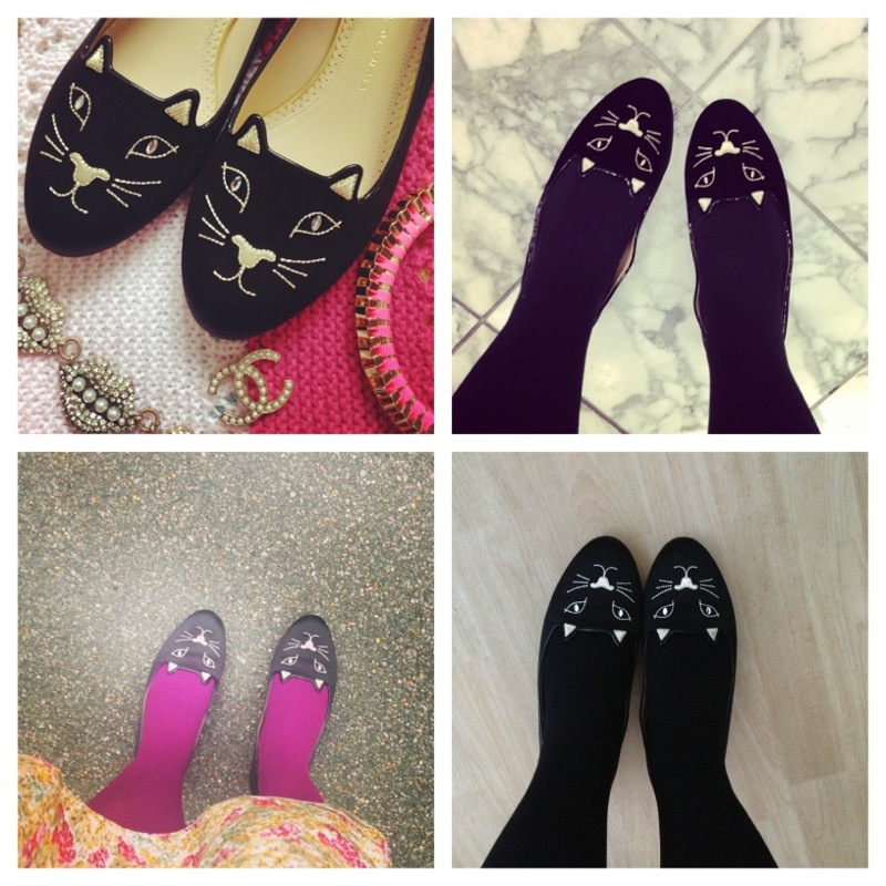 black charlotte olympia kitty flats - fashionforlunch cat shoes pumps fashion blog blogger personal style ootd wordpress uk british  chanel classic brooch lulu frost lips necklace