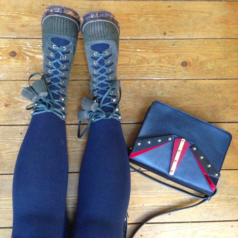 chanel tweed boots - fashion for lunch