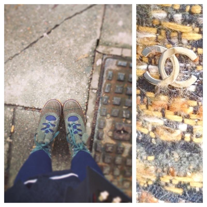 chanel boots - tweed paris edinburgh - fashion for lunch