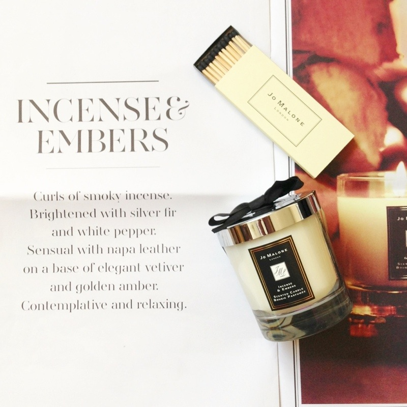 jo malone incense and embers candle -just like sunday - fashion for lunch fashion blog blogger personal style ootd wordpress uk british