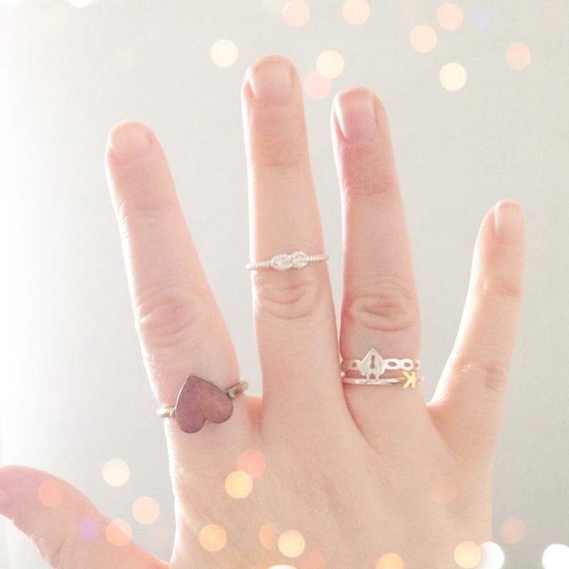 stackable rings midi rings fashion zoe and morgan forget me knot rob ryan heart padlock ring diary jewellery ring initial fashion blog blogger personal style ootd wordpress uk british