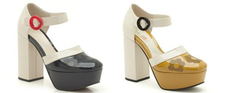 clarks orla kiely summer collaboration platforms 60s