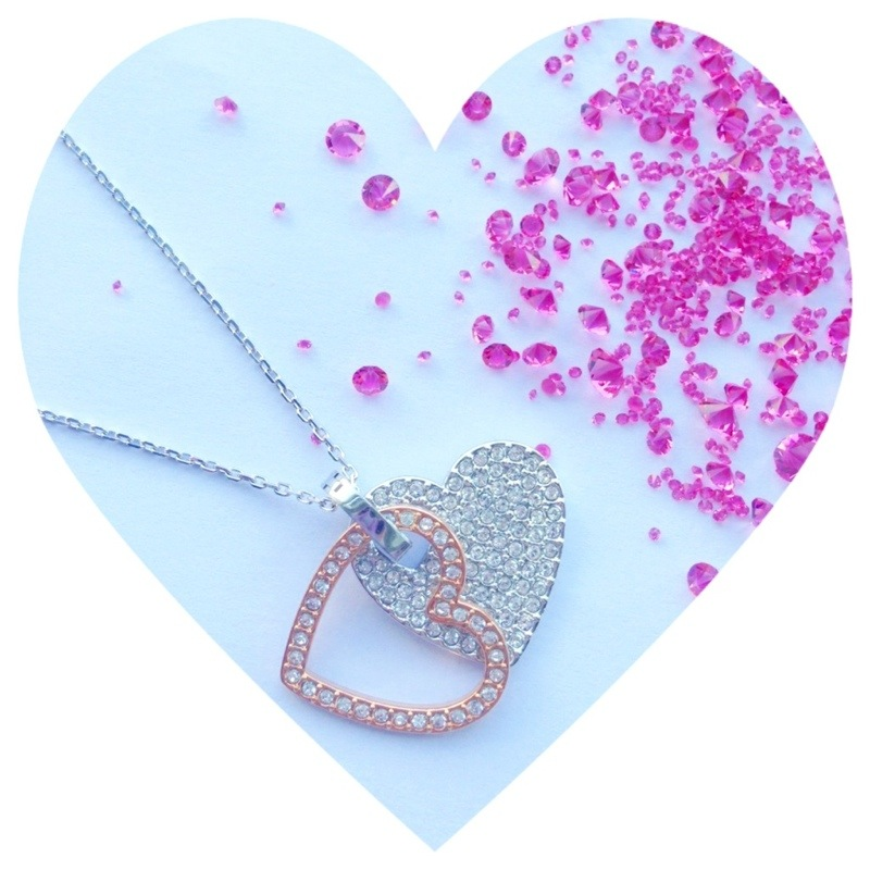 swarvoski infinity heart necklace fashion for lunch competition Swarovski crystals pretty fashion blog personal style wordpress