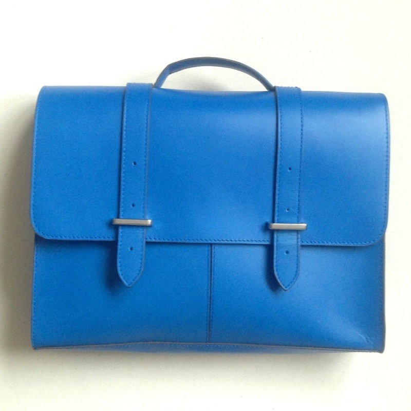 clarks satchel blue leather handbag bag fashion blog blogger personal style ootd wordpress uk british