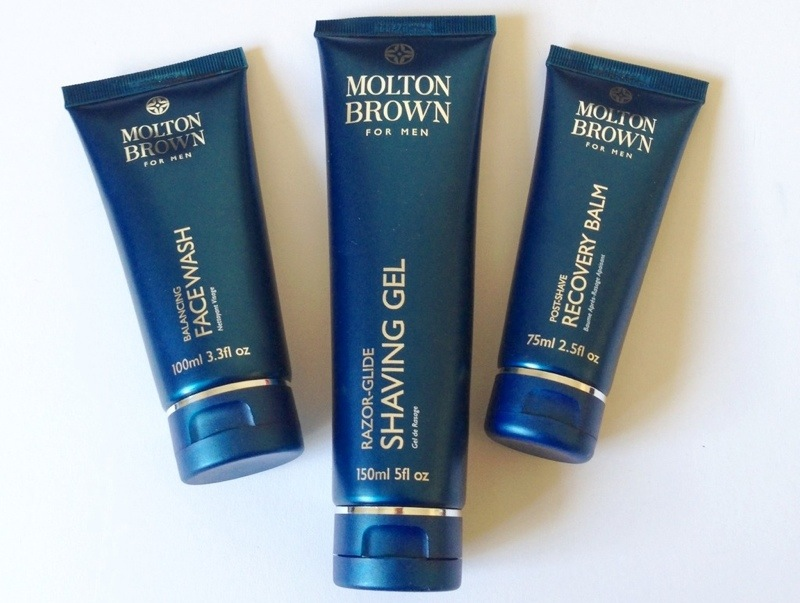 milton brown for men shaving gel recovery balm and face wash