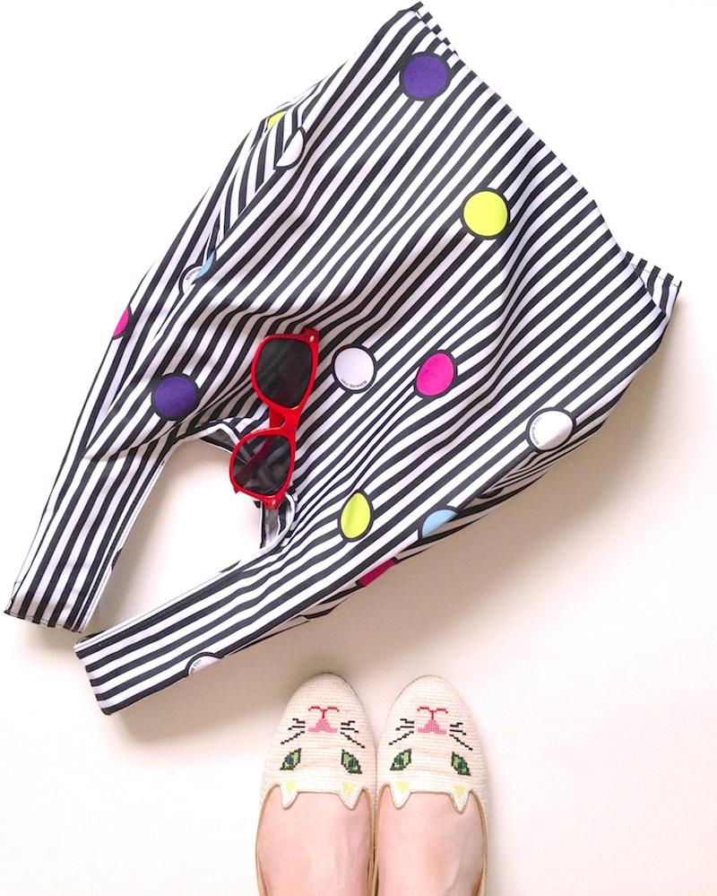 lulu guinness colour spot tote bag
