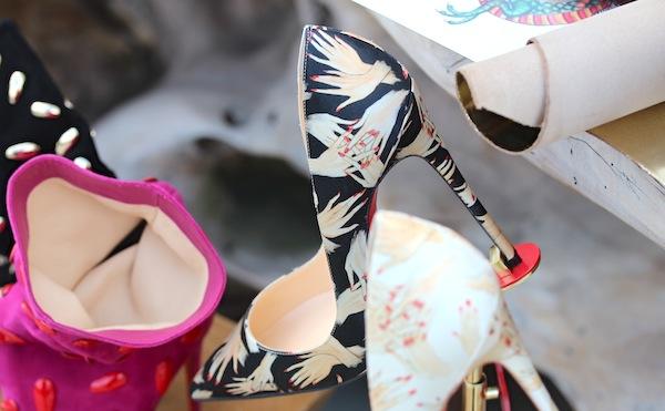 Christian Louboutin Beauté hand print shoes