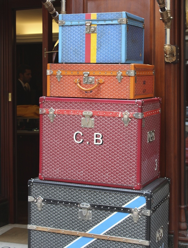 goyard trunks in paris shop