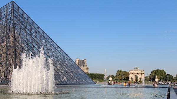 pyramids at the lourve paris