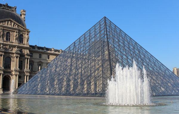 pyramids at the louve paris