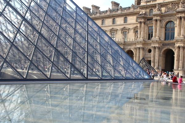 pyramids at the louve paris