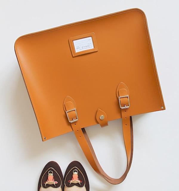 the original satchel store tote bag brown leather handbag charlotte olympia taurus shoes zodiac fashion blog blogger personal style ootd wordpress shoes sotd uk british