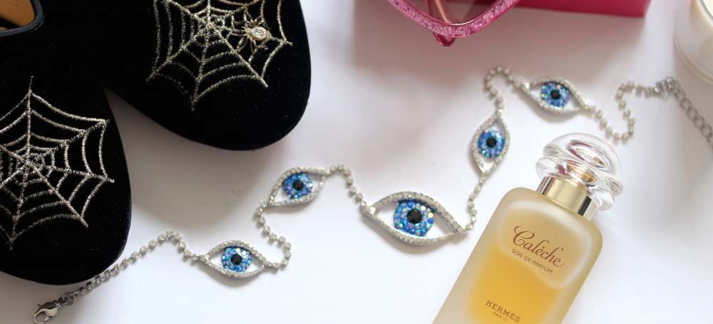 butler and wilson eye necklace hermes calache perfume charlotte olympia spider web spiderweb shoes
