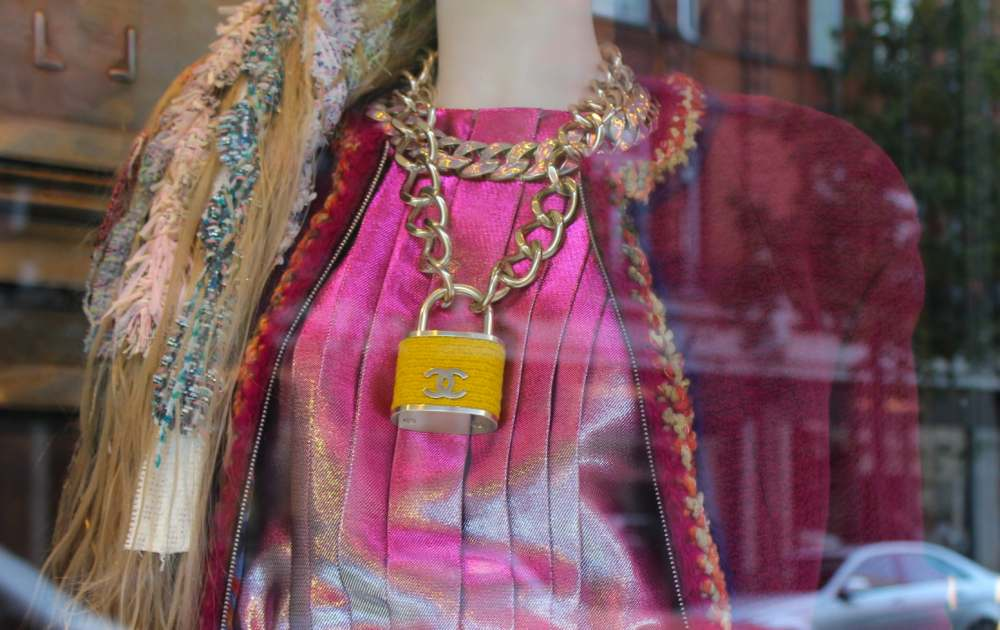 chanel padlock necklace yellow fashion supermarket collection