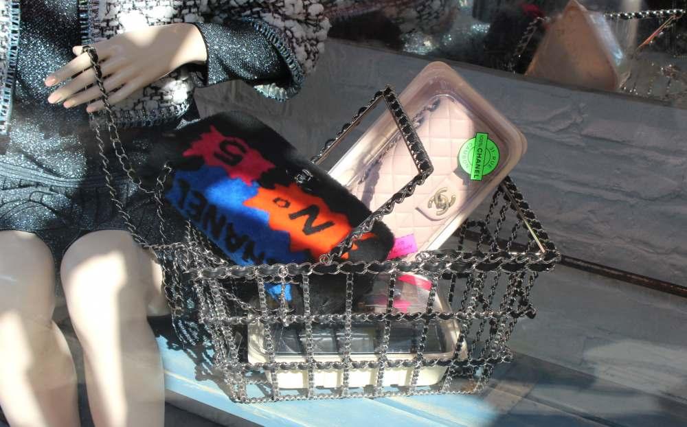 chanel shopping basket fur chanel number 5 shopping handbag